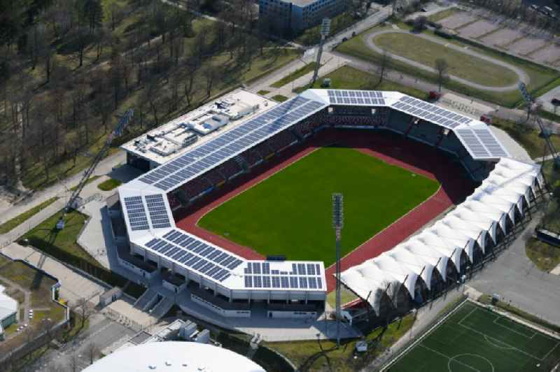 Arena of the Steigerwaldstadion at the Suedpark in Erfurt in the state Thuringia