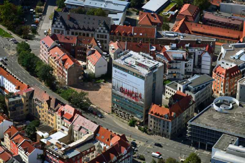 Reconstruction and new construction of high-rise building of 'TA-Hochhaus' former head office of the Thueringer Allgemeine in Erfurt in the state Thuringia, Germany
