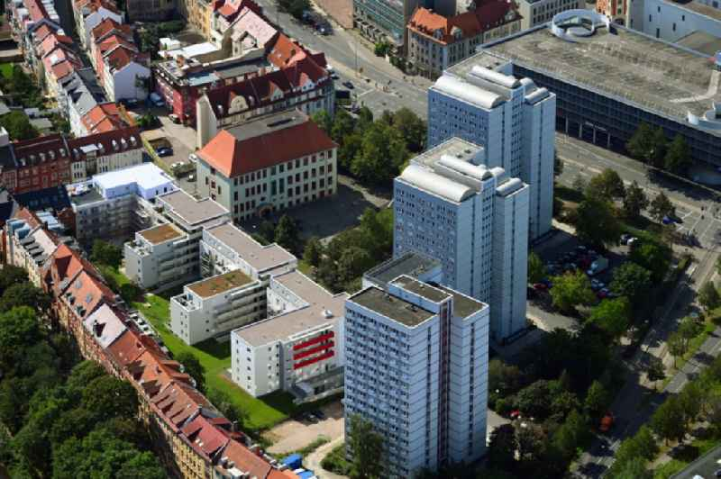 Multi-family residential complex of ' GWH Immobilien Holding GmbH ' on Neuerbe in Erfurt in the state Thuringia, Germany
