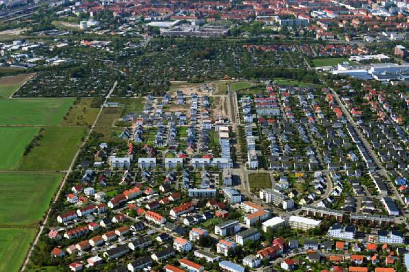 Settlement area and infrastructure 'Ringelberg-Siedlung' in the district Kriegervorstadt in Erfurt in the state Thuringia, Germany