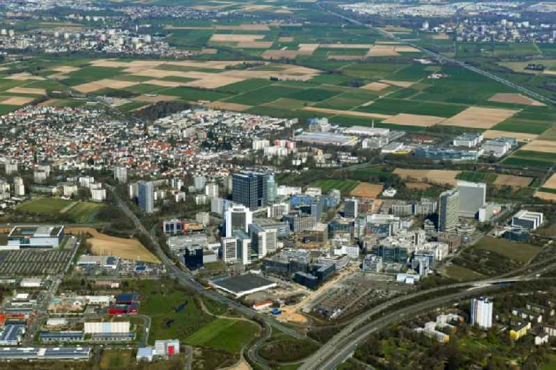 City view on down town in Eschborn in the state Hesse, Germany