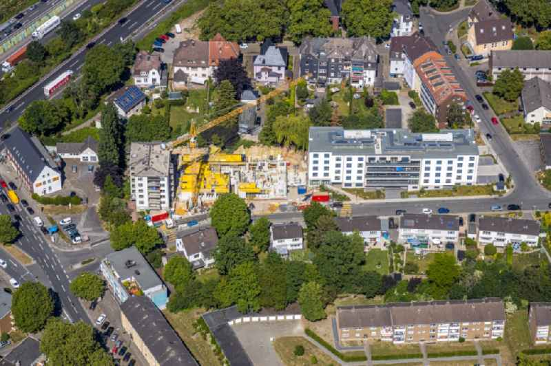 Construction site of a new build retirement home on Burgundenweg in the district Kray in Essen in the state North Rhine-Westphalia, Germany