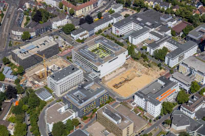 Construction site for a new extension to the hospital grounds Universitaetsklinikum Essen in Essen in the state North Rhine-Westphalia, Germany