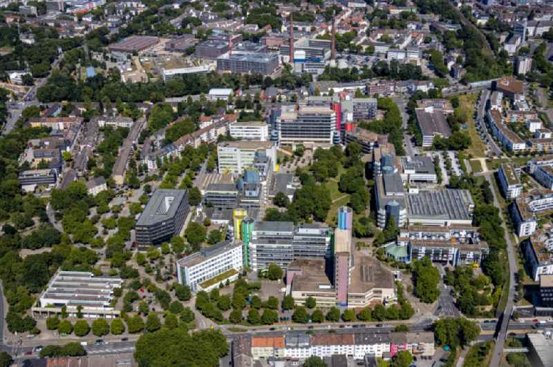 Campus area of the University of Duisburg-Essen in Essen in the state of North Rhine-Westphalia