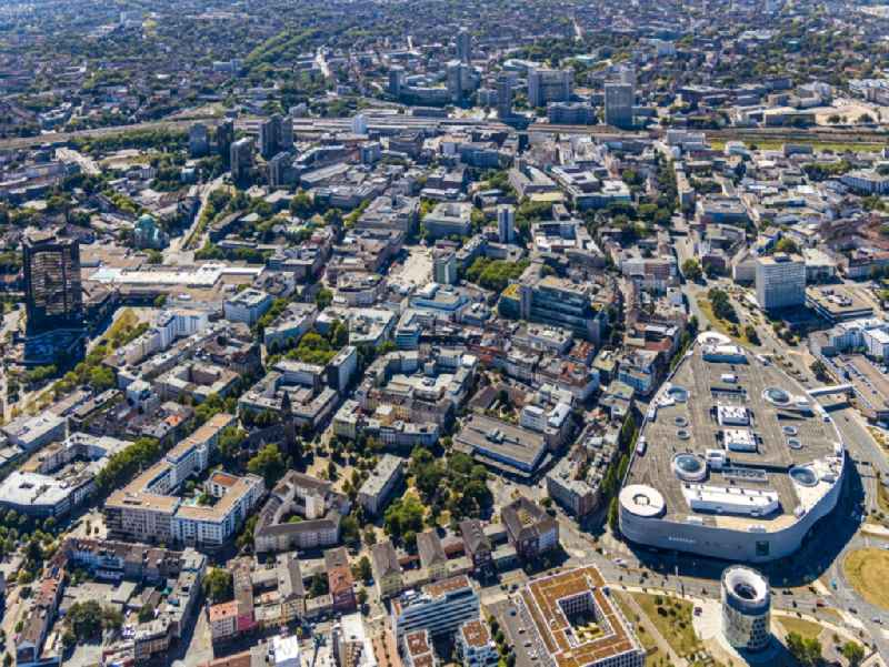 The city center in the downtown area on Limbecker Platz in the district Stadtkern in Essen in the state North Rhine-Westphalia, Germany