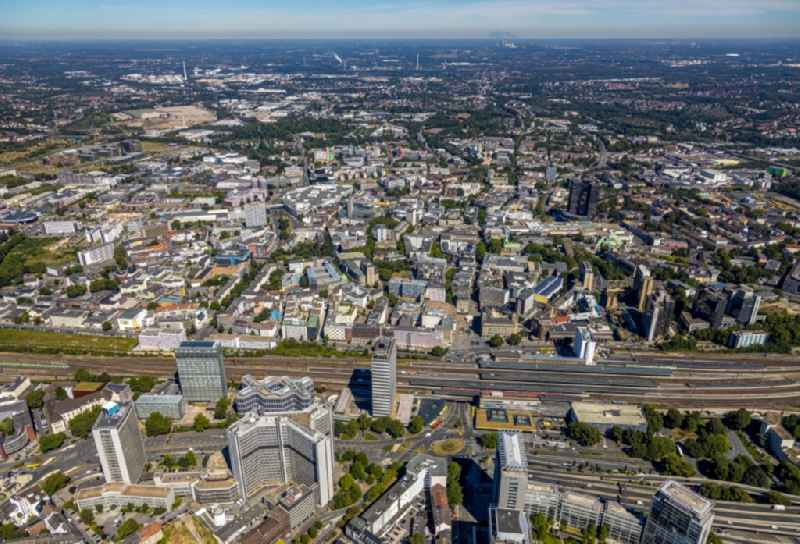 The city center in the downtown area in the district Stadtkern in Essen in the state North Rhine-Westphalia, Germany