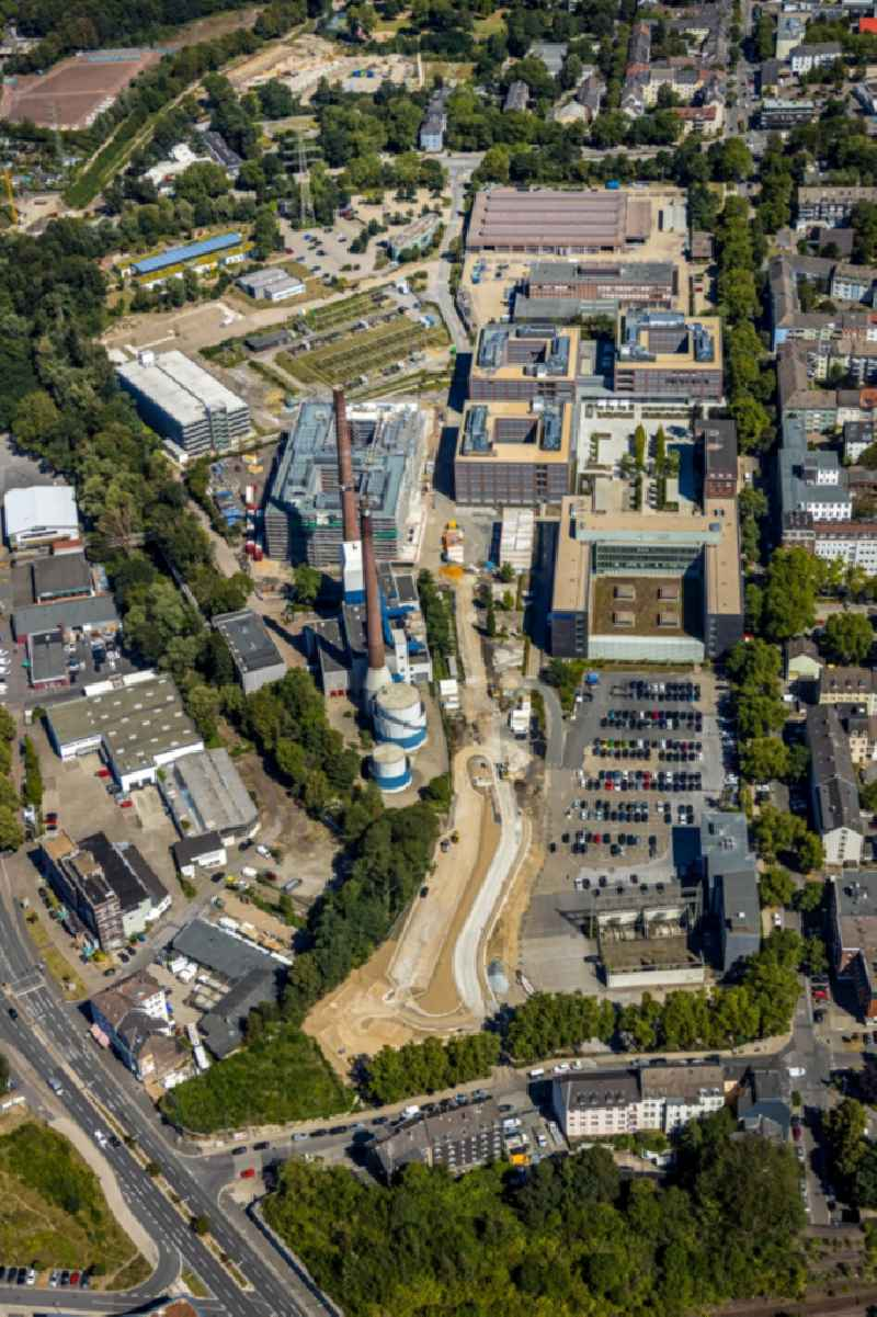 Construction site to build a new office and commercial building RWE Campus on Altenessener Strasse in the district Nordviertel in Essen in the state North Rhine-Westphalia, Germany