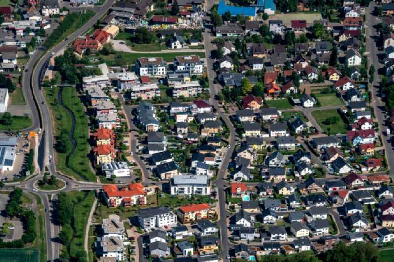 Outskirts residential in Ettenheim in the state Baden-Wurttemberg, Germany