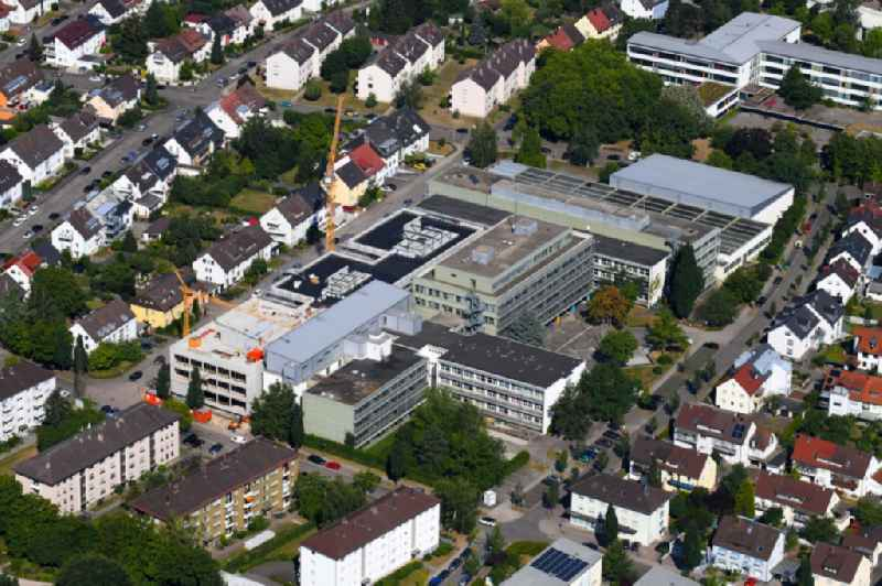Construction for the reconstruction of ' Bertha-von-Suttner-Schule ' on Beethovenstrasse in Ettlingen in the state Baden-Wurttemberg, Germany