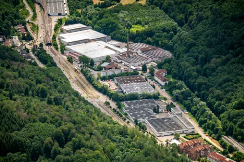 Industrial estate and company settlement Busenbach in Ettlingen in the state Baden-Wurttemberg, Germany
