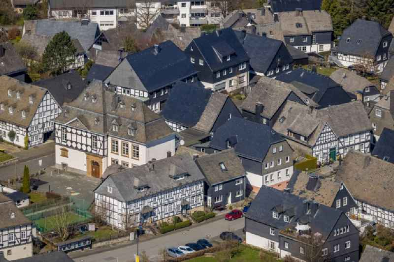 School building of the ' St. Johannes-Schule ' in Eversberg at Sauerland in the state North Rhine-Westphalia, Germany