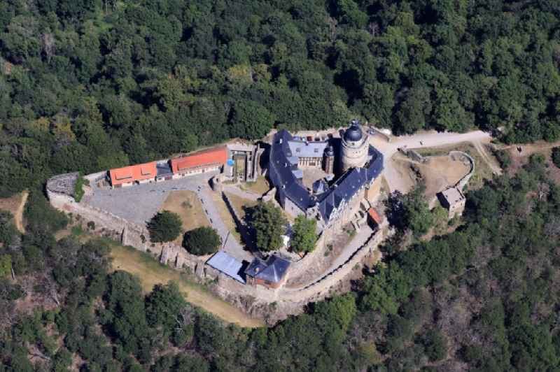 Castle of the fortress in Falkenstein/Harz in the state Saxony-Anhalt, Germany