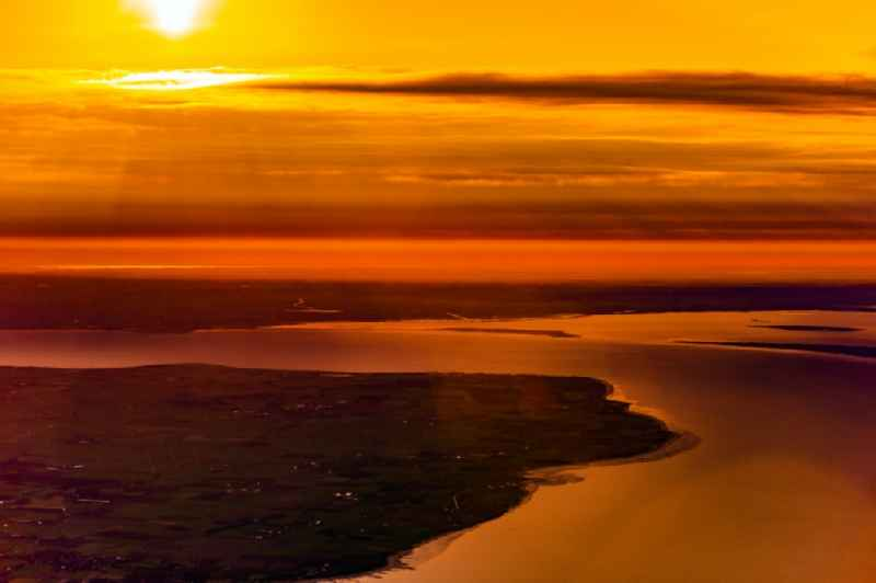 Coastal area at sunrise - North Sea island Foehr in the state Schleswig-Holstein, Germany