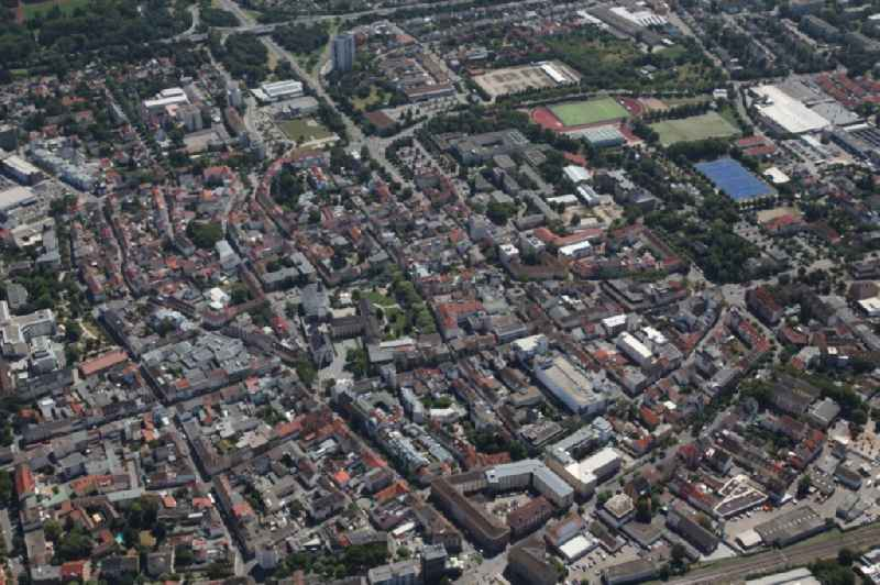 City view of downtown area in Frankenthal (Pfalz) in the state Rhineland-Palatinate, Germany.
