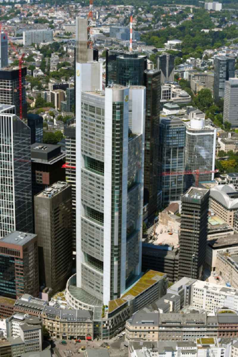 Office and corporate management high-rise building ' Commerzbank Tower ' on Kaiserstrasse in Frankfurt in the state Hesse, Germany.