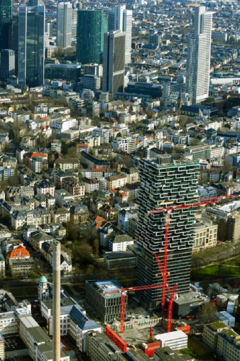 Construction site to build a new office and commercial building ' SENCKENBERG-QUARTIER ' on Robert-Mayer-Strasse - Senckenberganlage in the district Westend in Frankfurt in the state Hesse, Germany