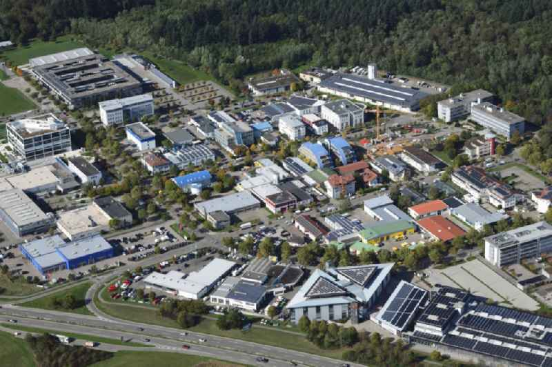 Industrial and commercial area Haid in Freiburg im Breisgau in the state Baden-Wurttemberg, Germany.