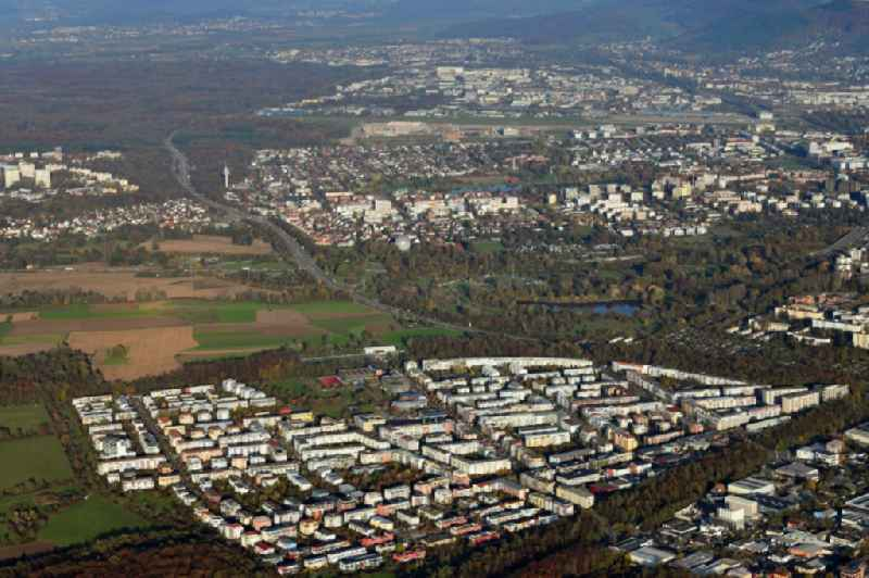 District Rieselfeld and Betzenhausen in the city of Freiburg im Breisgau in the state Baden-Wurttemberg.