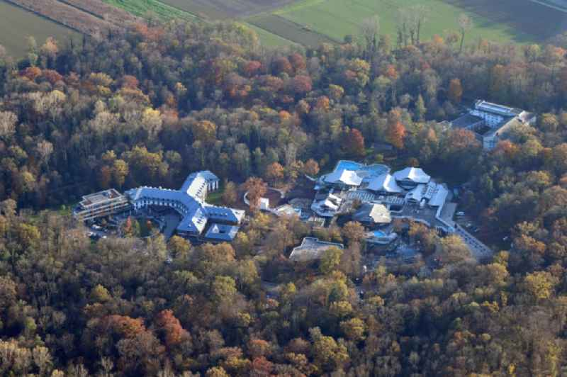 Area at the Keidel Mineral-Thermalbad Spa, the Dorint Hotel An den Thermen and the Celenus Psychosomatic Clinic in Freiburg im Breisgau in the state Baden-Wurttemberg, Germany.