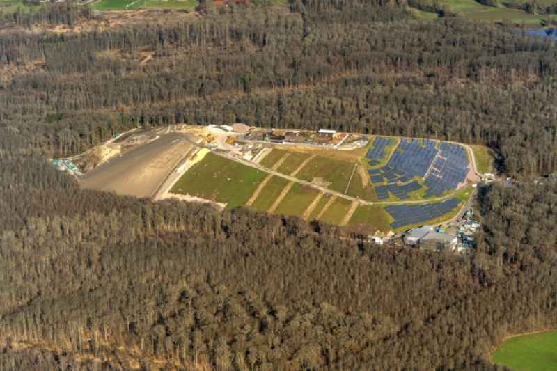Site waste and recycling sorting Energy Hill in Freiburg im Breisgau in the state Baden-Wurttemberg, Germany