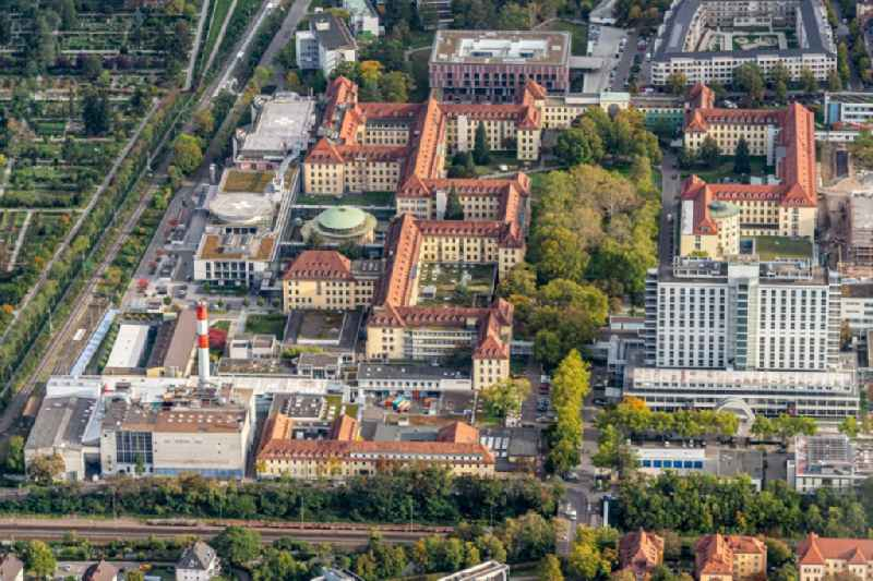 Hospital grounds of the Clinic Uniklinik in Freiburg im Breisgau in the state Baden-Wurttemberg, Germany