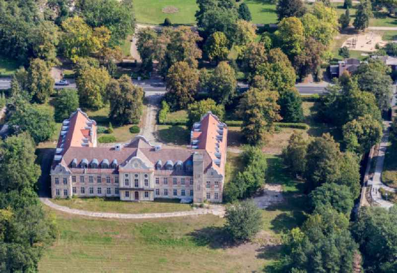 View of the castle Fuerstenberg in Fuerstenberg / Havel in the state Brandenburg.