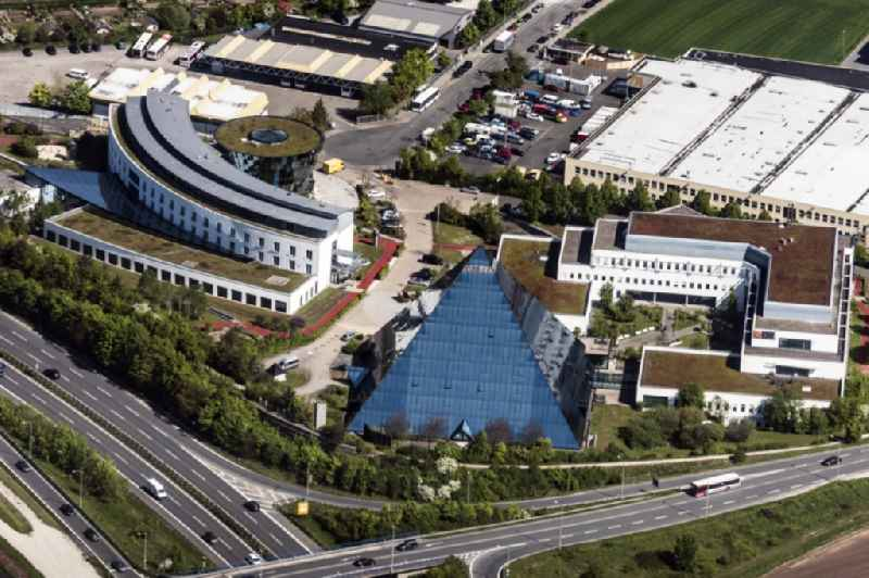 Health Center and Doctors' Center Schoen Klinik, alpha Reha and Glass Pyramide in Fuerth, Bavaria, Germany