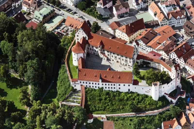 Castle of Schloss Hohes Schloss Fuessen in Fuessen in the state Bavaria, Germany