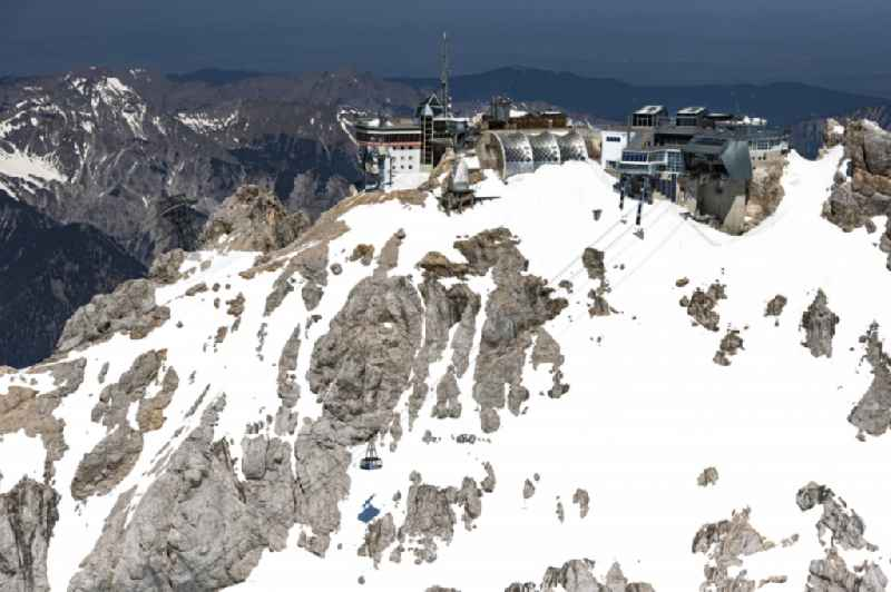 Station of the new cable car to the summit of the Zugspitze near Garmisch-Partenkirchen in the state Bavaria, Germany
