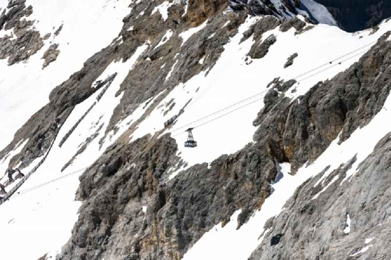 Cable car to the top of Zugspitze near Garmisch-Partenkirchen in the state Bavaria