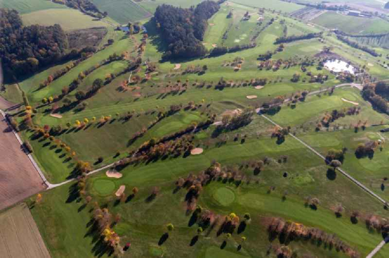 Grounds of the Golf course at of Golfclub Steigerwald in Geiselwind e. V. in Geiselwind in the state Bavaria, Germany