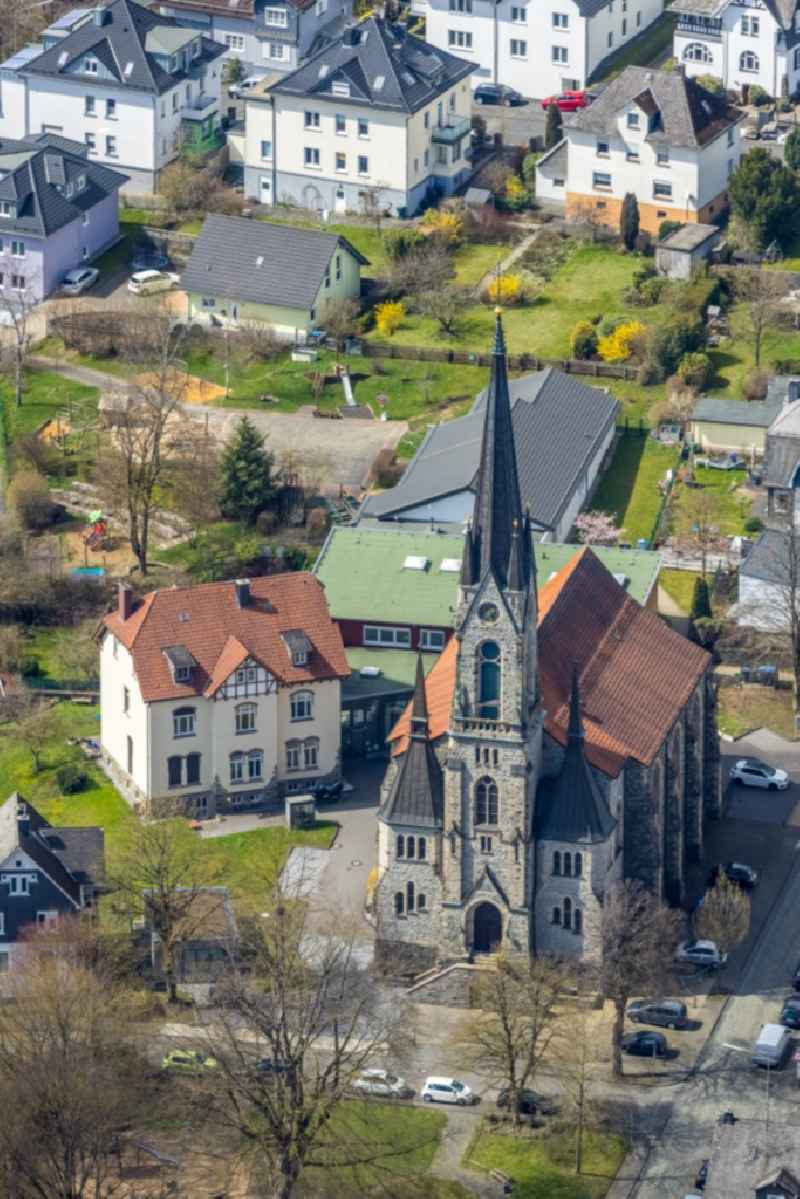 Church building in Geisweid in the state North Rhine-Westphalia, Germany