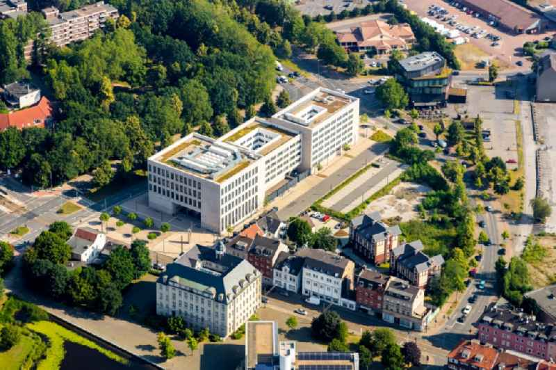 Building complex of the new center of Justice of Gelsenkirchen in the state of North Rhine-Westphalia