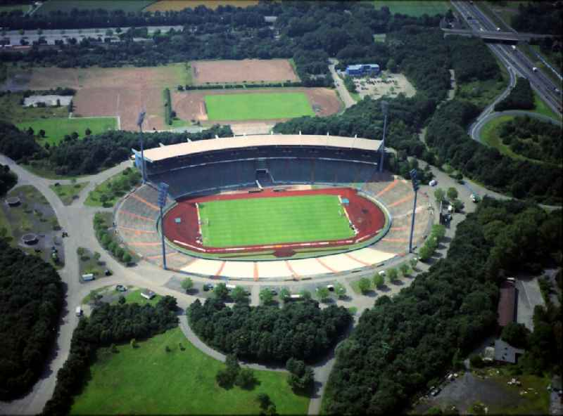 Sports facility grounds of stadium ' Glueckauf ' in Gelsenkirchen in the state North Rhine-Westphalia, Germany