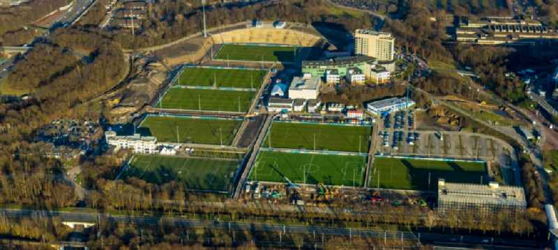 Ensemble of sports grounds of ' FC Gelsenkirchen-Schalke 04 e.V. ' between the Ernst-Kuzorra-Weg and of the Parkallee in the district Gelsenkirchen-Ost in Gelsenkirchen in the state North Rhine-Westphalia, Germany