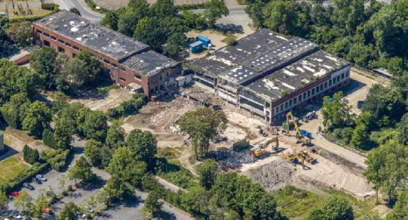 Demolition of the building area of of 'Gaefog-Komplex' on Emscherstrasse in the district Erle in Gelsenkirchen in the state North Rhine-Westphalia, Germany