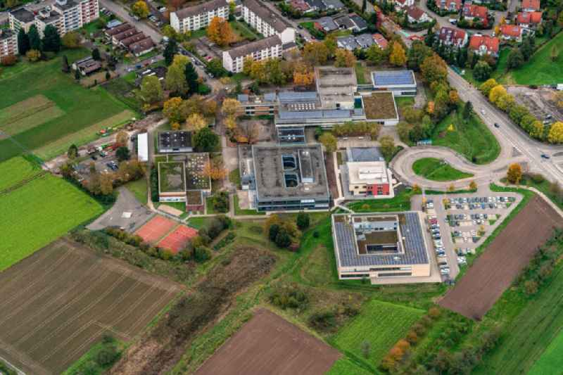 Campus building of the University of Applied Sciences Hochschule Offenburg Bildungscampus unD Gymnasium and Realschule in Gengenbach in the state Baden-Wurttemberg, Germany