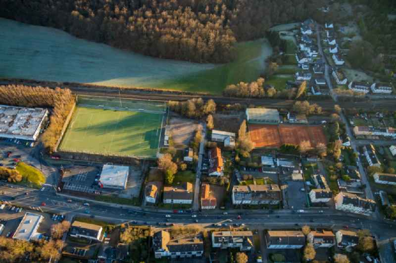 Sports grounds and football pitch Am Keuthahn in Gevelsberg in the state North Rhine-Westphalia, Germany