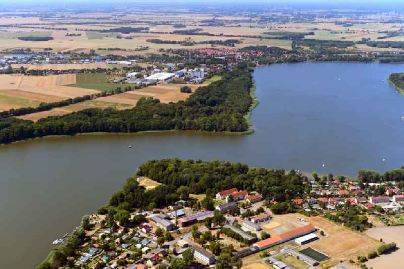 Riparian areas on the lake area of ' Ruppiner See ' in Gnewikow in the state Brandenburg, Germany