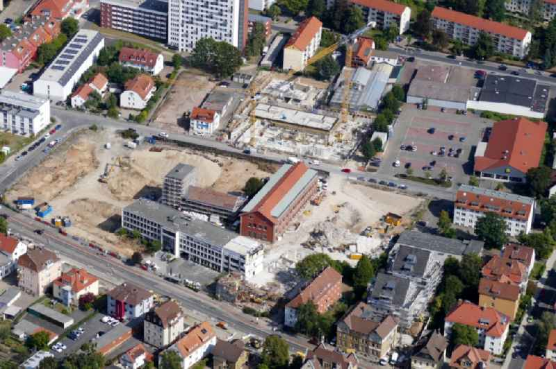 Construction site for City Quarters Building Sartoriusquartier in Goettingen in the state Lower Saxony, Germany.