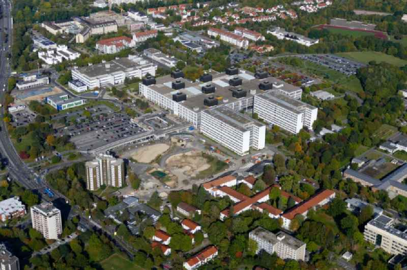 Construction site for a new extension to the hospital grounds Universitaetsklinikum UMG Goettingen in Goettingen in the state Lower Saxony, Germany