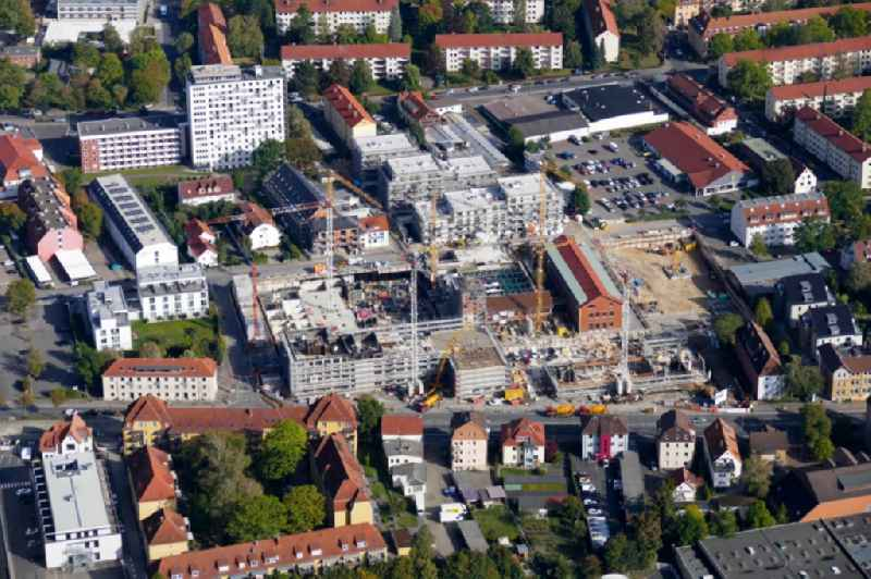 Construction site to build a new multi-family residential complex in Goettingen in the state Lower Saxony, Germany
