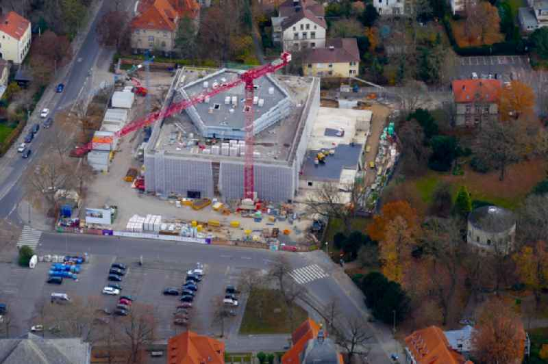 Renovation of the building of the indoor arena Stadthalle in Goettingen in the state Lower Saxony, Germany