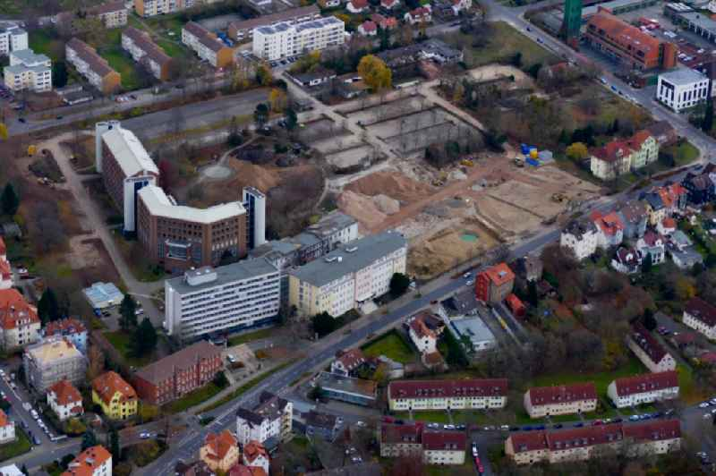 Demolition area of office buildings Home of Gothaer-Versicherung in Goettingen in the state Lower Saxony, Germany