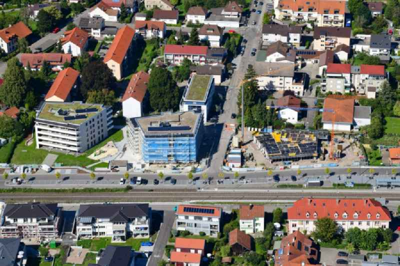 Residential construction site with multi-family housing development- on the Gartenstrasse in Grenzach-Wyhlen in the state Baden-Wurttemberg, Germany