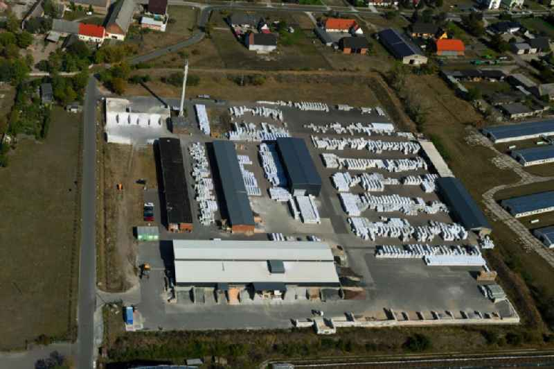 Building and production halls on the premises of 'Weco GmbH & Co. KG' on Sachsendorfer Strasse in Gross Rosenburg in the state Saxony-Anhalt, Germany