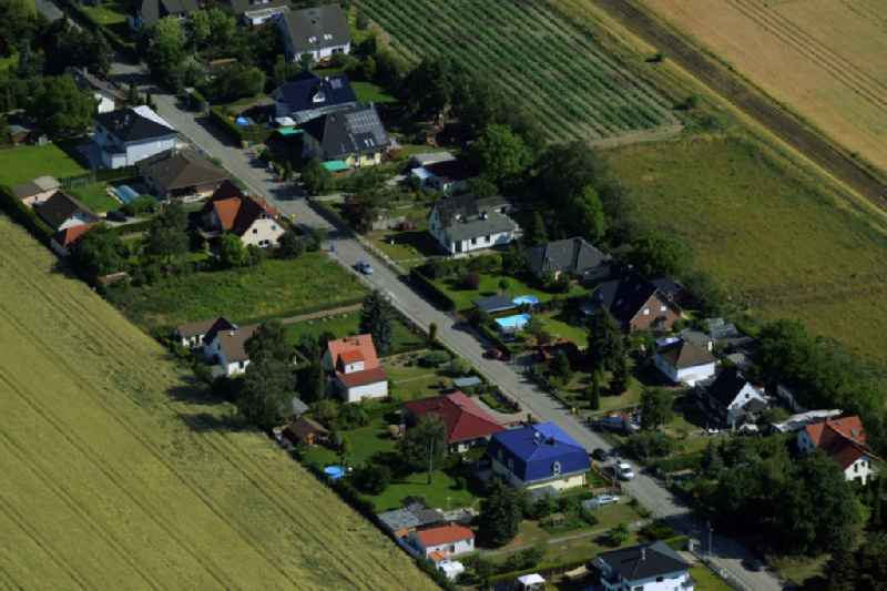 Single-family residential area of settlement in Grossziethen in the state Brandenburg.