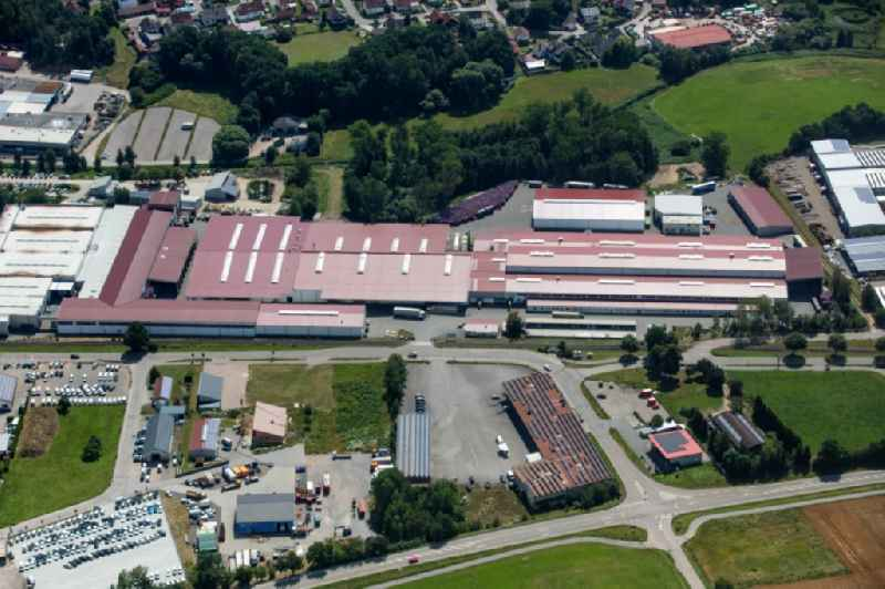 Buildings and production halls on the vehicle construction site of ZMT Automotive GmbH & Co. KG in Grubmuehl in the state Bavaria, Germany