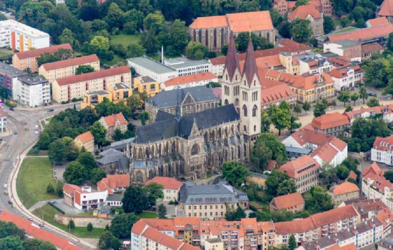 Church building of the cathedral and Domschatz in Halberstadt in the state Saxony-Anhalt, Germany