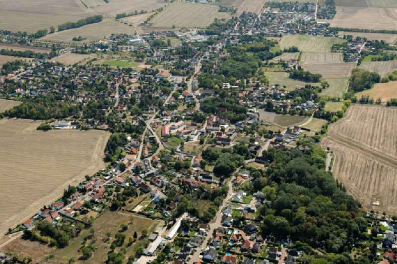Town View of the streets and houses of the residential areas in the district Reideburg in Halle (Saale) in the state Saxony-Anhalt, Germany.
